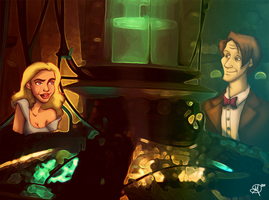 The Doctor and River Song by supinternets