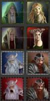 Elves and Dwarves by delira