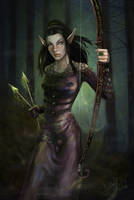 Fay Sinis in the forest by delira