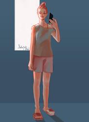 selfie sketch by delira
