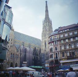 Wien in Diana Mini: Stephansdom Tall by neuroplasticcreative