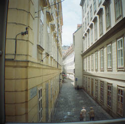 Wien in Diana Mini: View from Mozart's Apartment by neuroplasticcreative