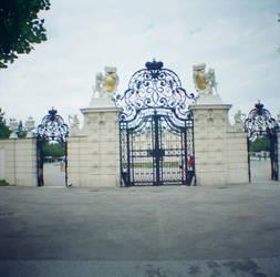 Wien in Diana Mini: Gates to Belvedere by neuroplasticcreative