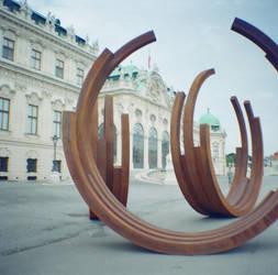 Wien in Diana Mini: Belvedere and Structures by neuroplasticcreative