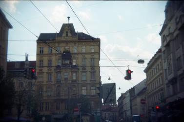 Wien in Holga 135BC: Crossing Wires by neuroplasticcreative