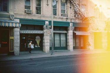 San Antonio in Holga 135BC: Mr. Ice Cream by neuroplasticcreative