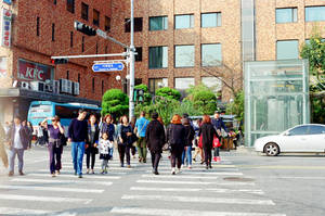 Itaewon Crossing by neuroplasticcreative