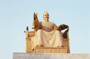Gwanghwamun: King Sejong the Great by neuroplasticcreative