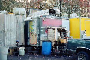 Downtown PDX: Food Cart Guts by neuroplasticcreative