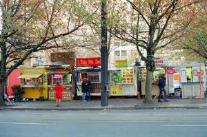Downtown PDX: Alder Food Cart Pod IV by neuroplasticcreative