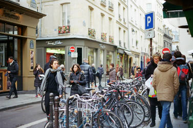 Paris Le Marais: Les bicyclettes by neuroplasticcreative