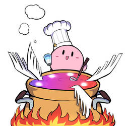 Kirby is cooking by PhiphiAuThon