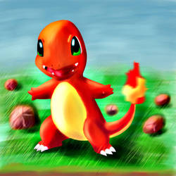 Charmander paint by BrunoCerrato