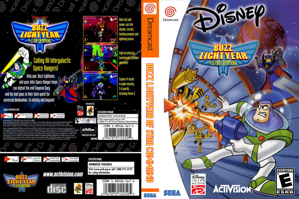 Buzz Lightyear Of Star Command Dreamcast Cover Dvd By Framerater On