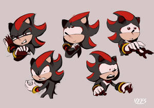 Shadow the Hedgehog Sketches by ResidentEvilffs