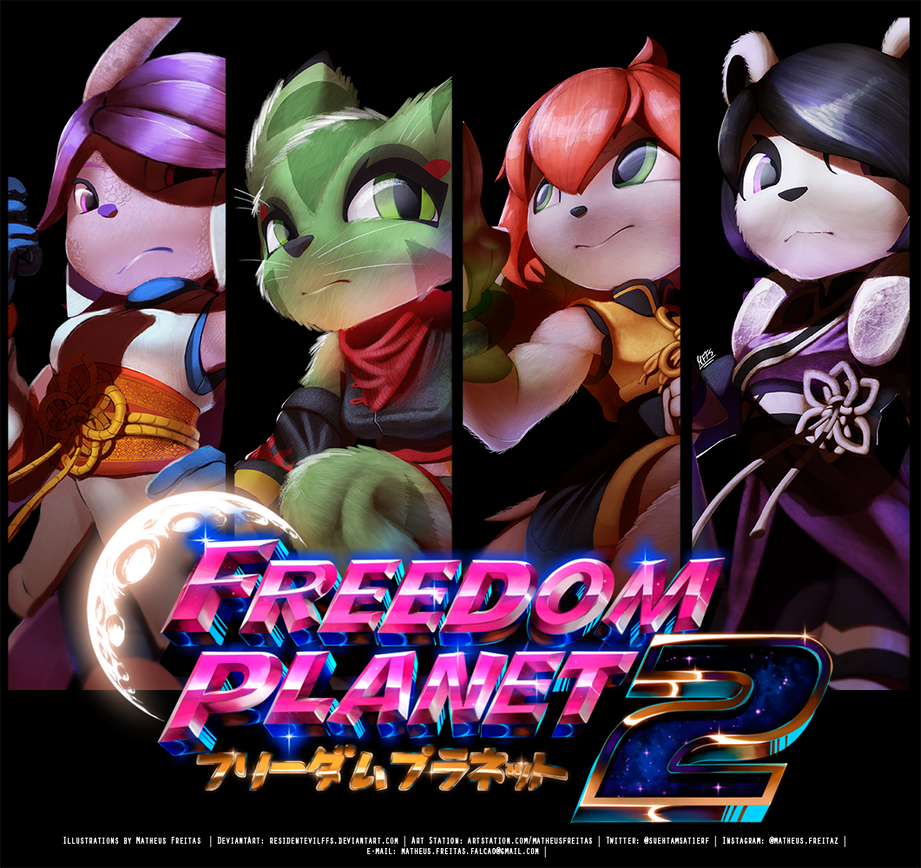 Freedom Planet 2 Heroes by ResidentEvilffs
