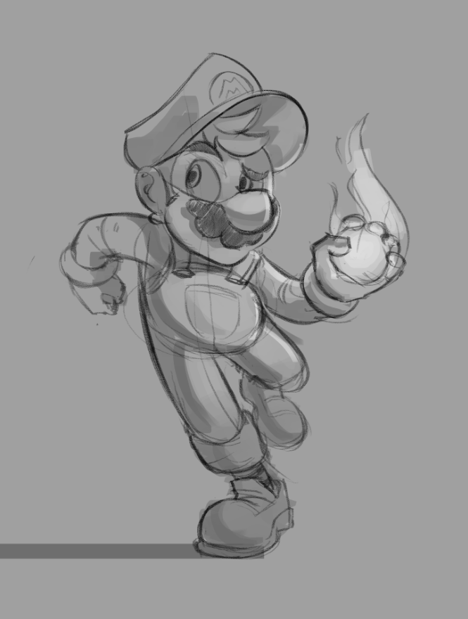 Mario Sketch by ResidentEvilffs