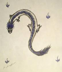 Blue lung dragon by jennovazombie