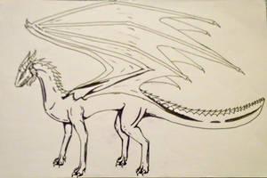 Dark dragon by jennovazombie