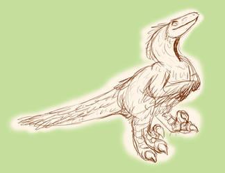 Raptor sketch by jennovazombie