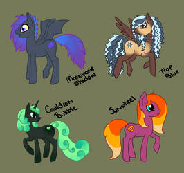 Pony adoptables by jennovazombie