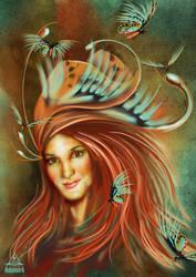 Butterflies for Tea by AmberCrystalElf