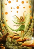 Forest Frolic by AmberCrystalElf
