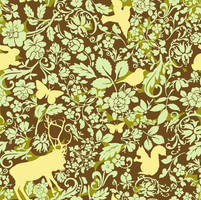 Woodland creatures pattern 1 by chamelledesigns