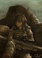 sniper girl by jiewarch