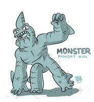 Monster Monday 002- Shark Creature by rickruizdana