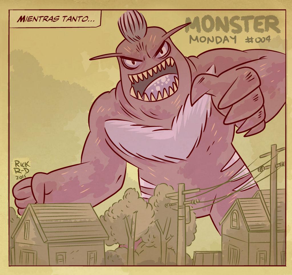 Monster Monday 004- Giant Evil Monster by rickruizdana