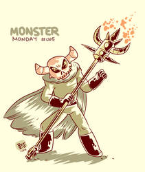 Monster Monday 005 -Interdimensional demon by rickruizdana