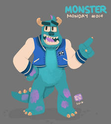 Monster Monday 14-Sulley from Monsters University by rickruizdana
