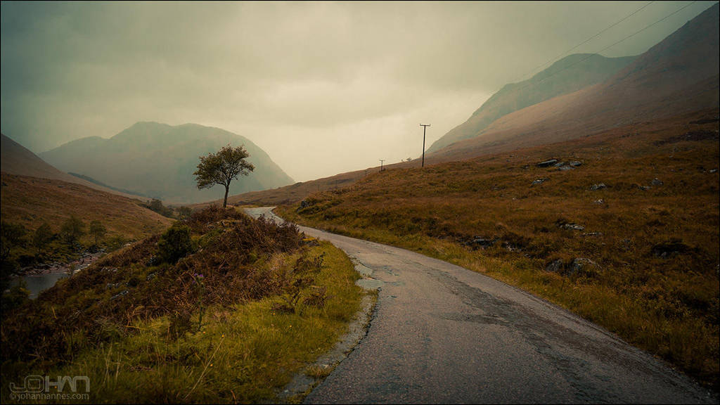 The road to Glen Etive 1 by nahojsennah