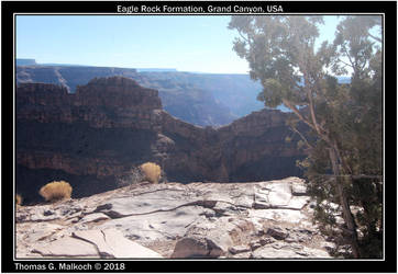 Eagle Rock Formation Grand Canyon by mottymotty