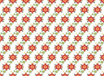 Seamless Sky Flower Pattern by Cherry-Lei