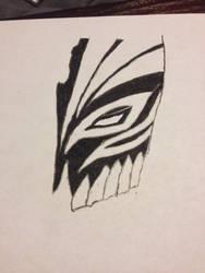 Half of Ichigo's mask from bleach by sasukepewdie