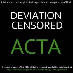 Stop ACTA by duperhero