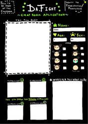 App sheet for DA-Fight Chatroom by duperhero