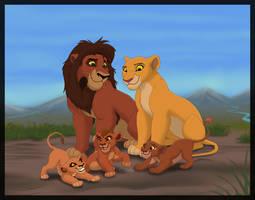 Kiara and Kovu's family by HydraCarina