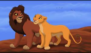 King Kovu and Queen Kiara by HydraCarina