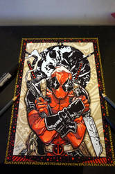 **Finished** Deadpool art A4 by trivious