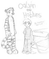 Calvin and Hobbes by Tiggstar