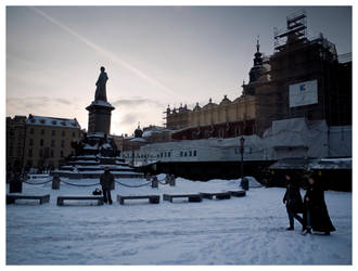 snowy market square by Alsimair