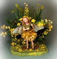 Verona Barrella OOAK Celendine Fairy Sculpture by veronabarrella