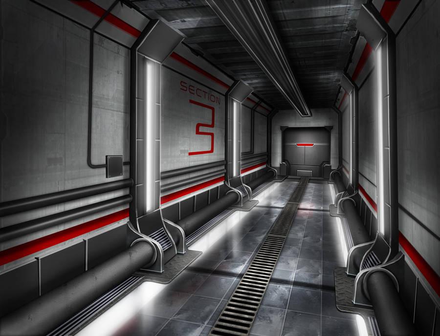 Background design : corridor by ThoRCX