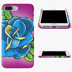tattoo inspired rose iPhone case, by GandiArtist