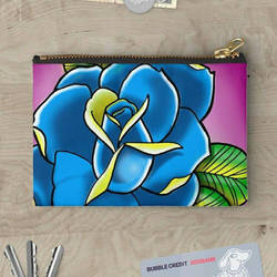 Tattoo inspired rose studio pouches by GandiArtist