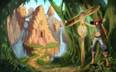 Kadrea, Patron Saint of Adventure by jewelsteel