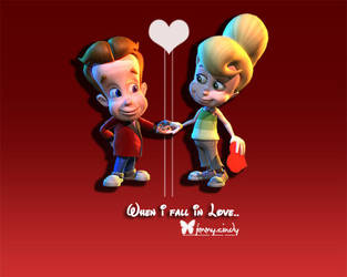 Jimmy Neutron loves Cindy by shirota-photoshop